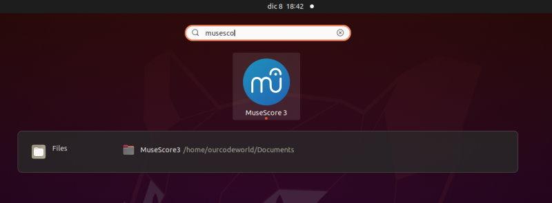 MuseScore 3 Launch Ubuntu