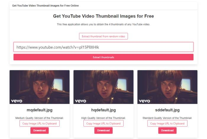 youtubethumbnail.download is a free online tool to download the thumbnails of any YouTube video